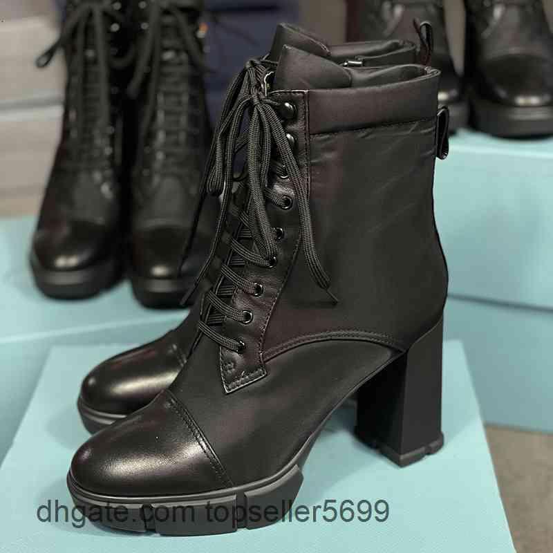 Tasarımcı Lüks Plak Çizmeler 9.5 cm Yüksek Topuklu Ayak Bileği Kadınlar Siyah 100% Hakiki Deri Savaş Kış Boot ile Kutusu