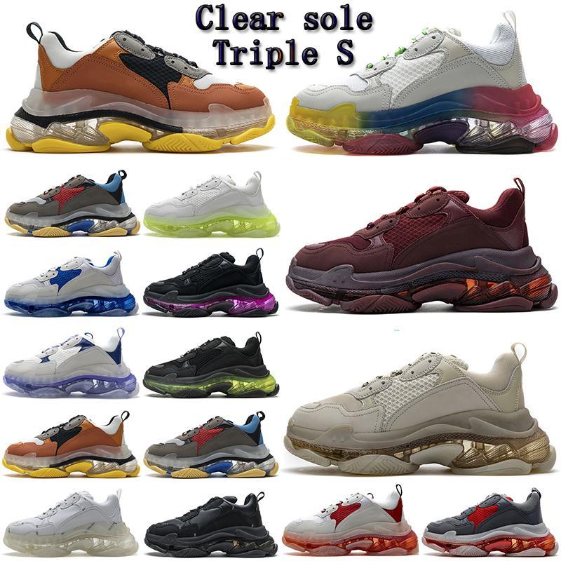 Balenciaga Triple S shoes high quality Fashion Paris 17FW Sneaker Running Shoes Platform mens womens Triple S Casual Dad for Men's Women green Ceahp Sports Shoe Size 36-45