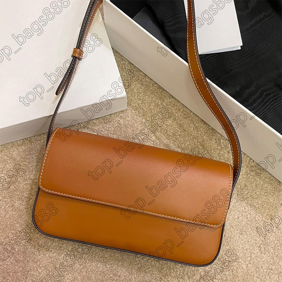 Designer Womens Handtaschen Geldbörsen Kleine braune Umhängetaschen Top Qualität Handtasche Echtes Leder Metallschnalle Triomp Box Underarm Bag