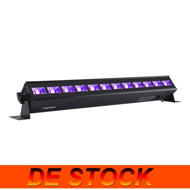 De Stock12 LED LED NEGRO, 36W UVA 395-400NM Blacklight Glow en los accesorios de suministros de la fiesta oscura para la iluminación de la etapa de boda de cumpleaños de Navidad