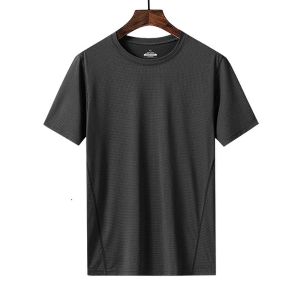 Novo t-shirt de manga curta T-shirt dos homens fina moda fina tendência maciço maciço manga t-shirt