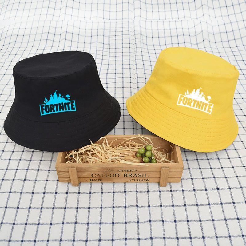 Chapéu de balde Fortaleza Night Fortnite Peripheral Dupla Side Fisherman's Sun Visor Sol Primavera e Outono
