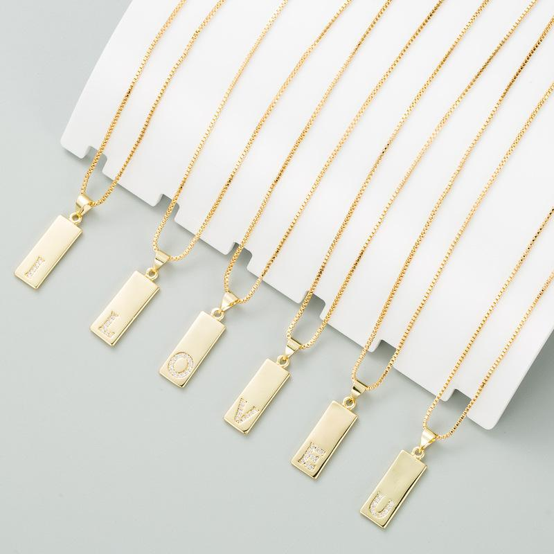 Frauen Mädchen Anfangsbuchstaben Halskette Gold 26 Buchstaben Charme Zirkon Anhänger Choker Kupfer CZ Schmuck Persönlichkeit Clawicle Kette Chokers