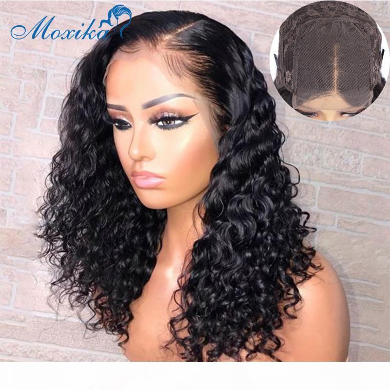 Волна волна парик кружева фронт человеческих волос парики волос бразильские парики волос 4x4 13x4 13x1 Remy 150 180 сброшенные и отбеленные узлы кружевной парик