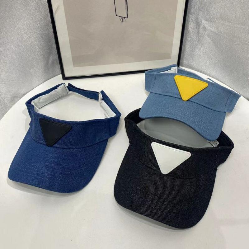 Yaz Vizör Topu Kapaklar Adam Kadın Moda Sokak Visor Beyzbol Şapkası Ayarlanabilir Şapka Kova Şapka 3 Renk Yüksek Kalite