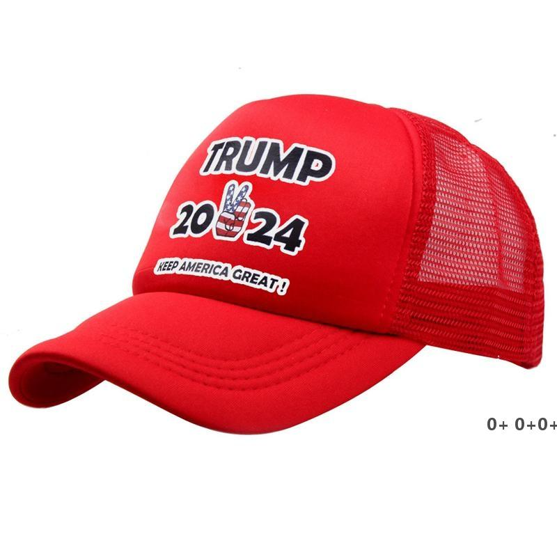 12 Arten Trump 2024 Hut Trump Biden Sommer Net Hut Peak Cap USA Präsidentschaftswahlen Baseballkappe Sun Hüte GWA4585
