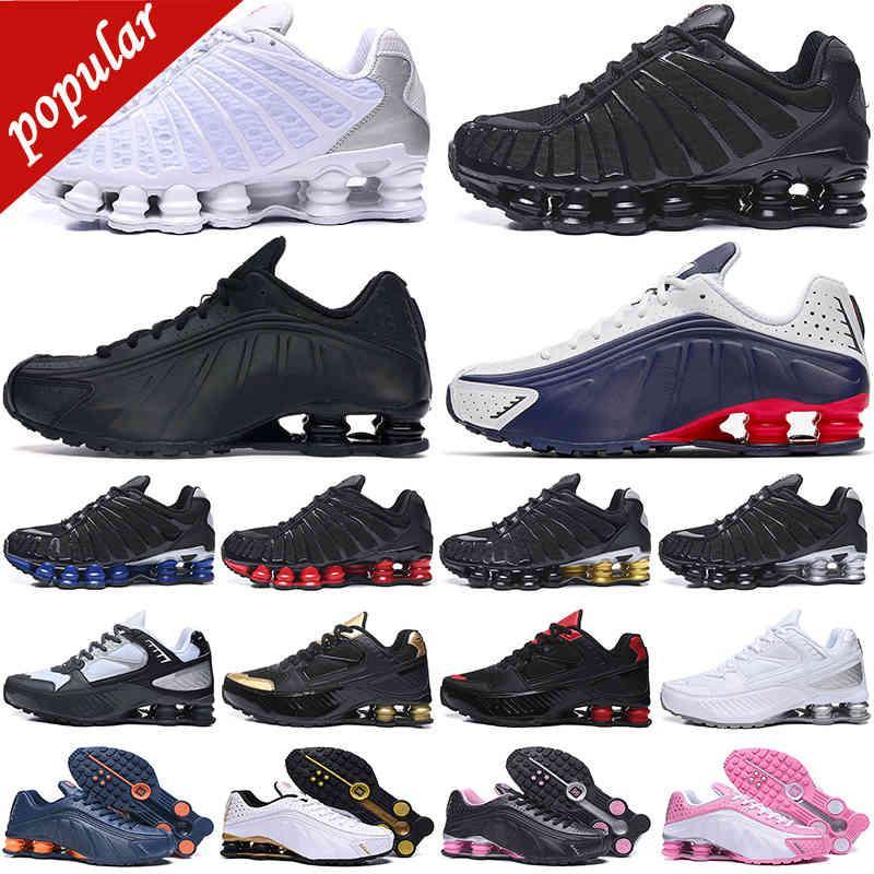 36-45 скидка Shox TL мужская беговая обувь Chaussures Открытая скорость Neymar Trainers Enigma Triple Black White Silver Mens Womens спортивные кроссовки