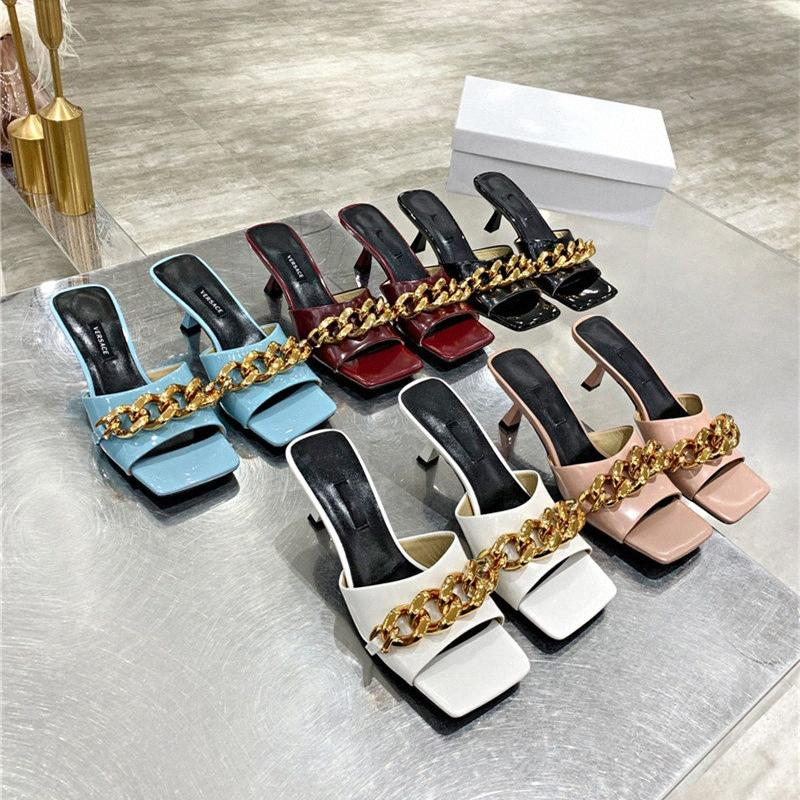 Top Quality 2021 Femmes Chaussures Femmes Robe Dress Bottes High Talons Sexy Pointe pointu Sole Sole 5,5cm Pompes Cuir Soft Mariage Robes Chaussures Taille 35-42 V8PC #