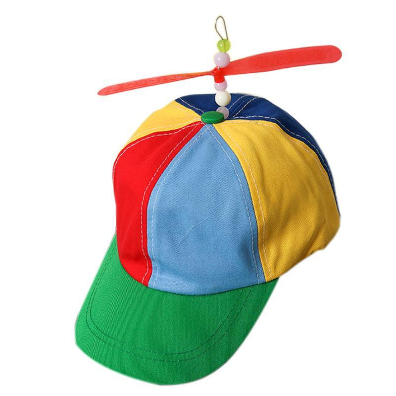 Kid Propeller Cap Hat Helicopter Rainbow Party Fancy Nerd Fun Funny Gadgets Novelty Interesting Toys For Kids 2021 Caps & Hats