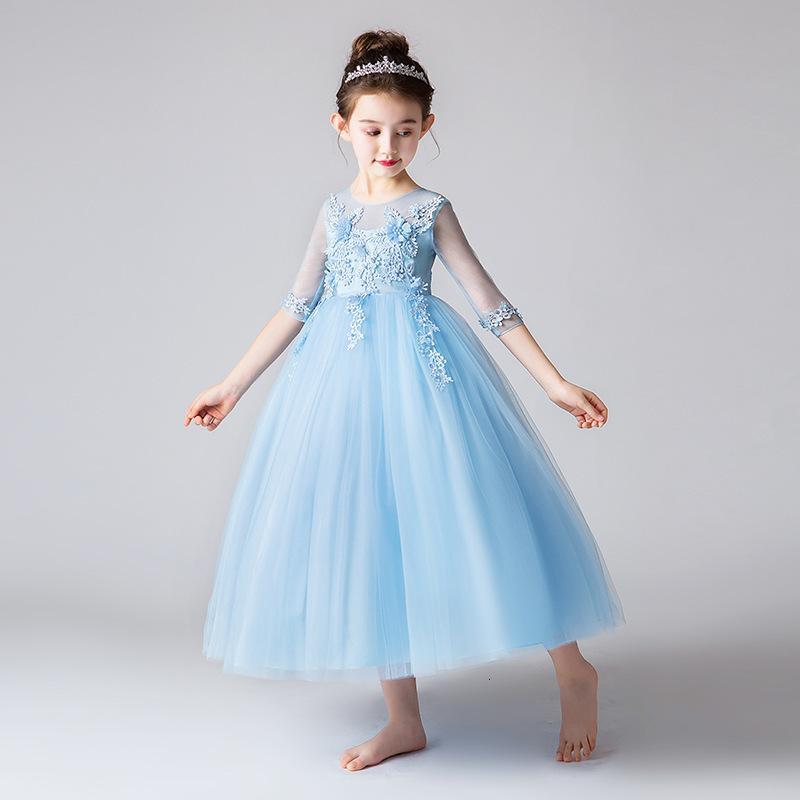 Girls 'Long Prinzessin Neue Kinder Brautkleid im Sommer 2021