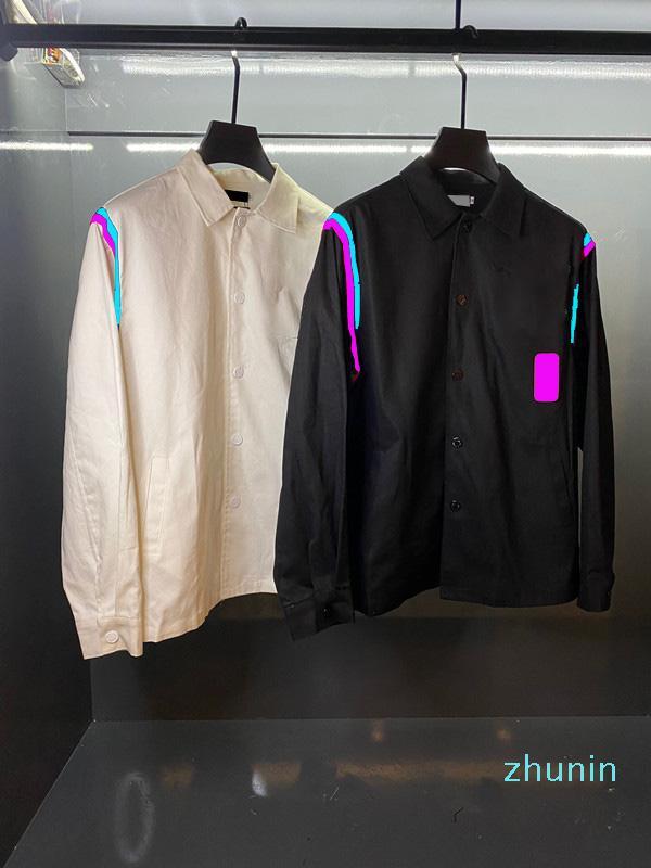 Giacca da uomo e da donna in cotone moda abiti sportivi design caldo con cerniera a cerniera epaulet baseball sottile giacche casual