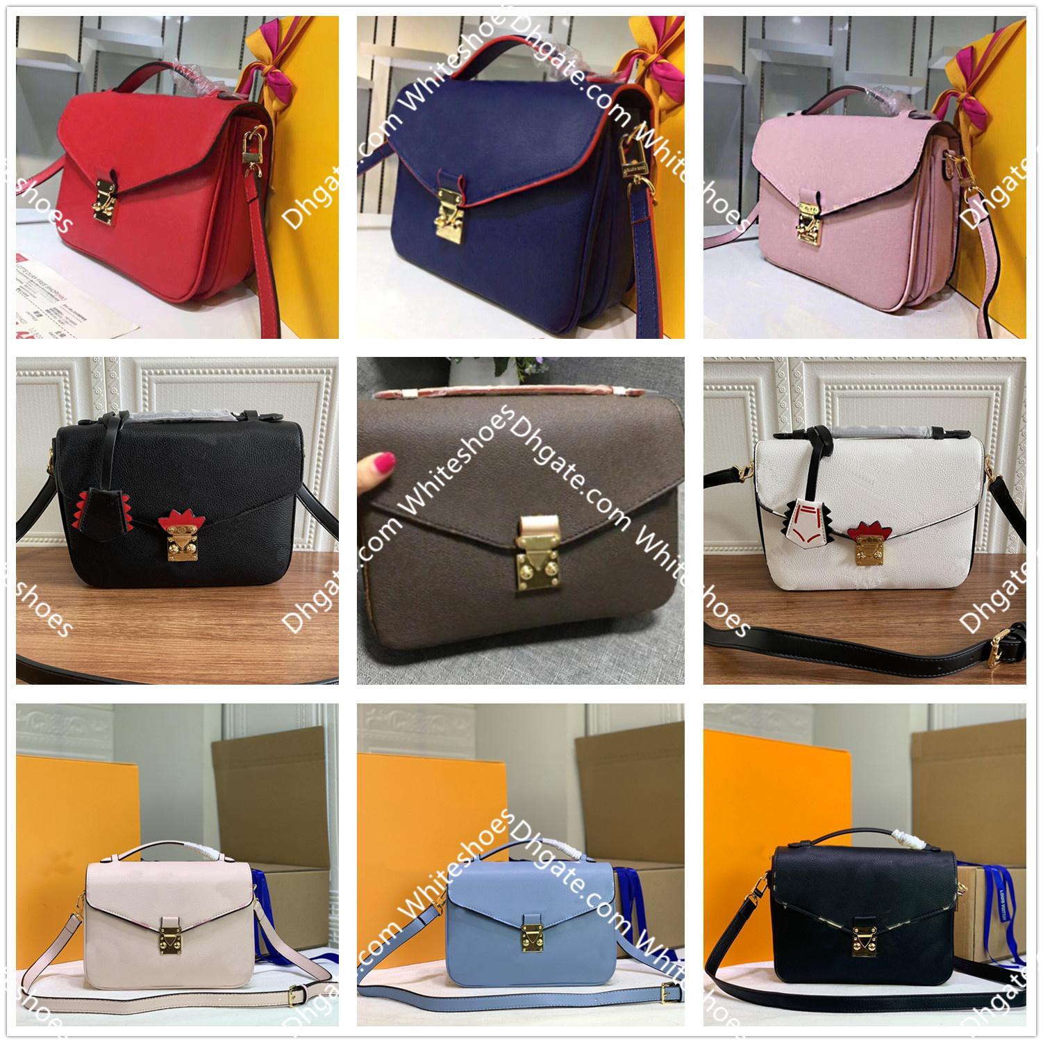 Classic Impressão Flor Pochette Metis Totes Luxurys Designers Messenger Bolsa de Couro Real Mulheres bolsas bolsas bolsas de bolsas Crossbody Bags M40780