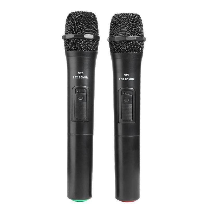 Akıllı Kablosuz Mikrofon El Mic 2 ADET Yüksek Kademeli Mikrofonlar Karaoke Konuşma Hoparlörü Için USB Alıcı Ile