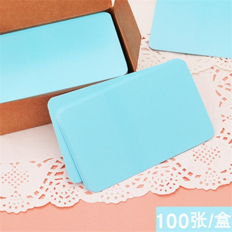 100pcs Vintage Blank Card DIY Greeting Paper Thick Gift Wedding Postcards Cards Kraft Word Party Cards Graffiti1 654 R2