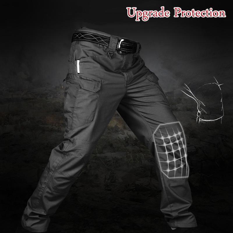 Homens elásticos multi-bolso tático calça macho militar urbano trabalho curto desgaste cargas fit 5xl