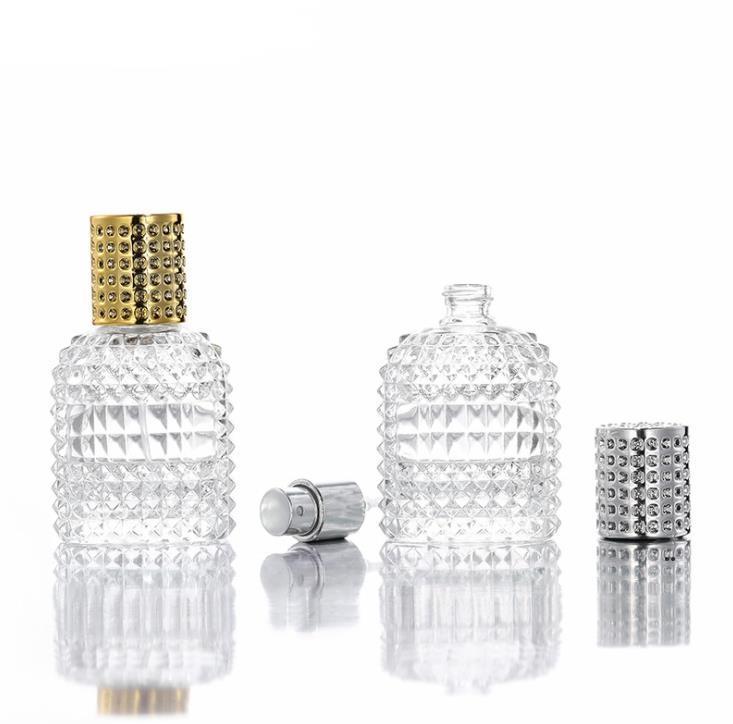 50mlglass Парфюмерия Распылительная бутылка Пустые защитные Косметические контейнеры распылитель Бутылки Парфюмерии для путешествий EWF8423