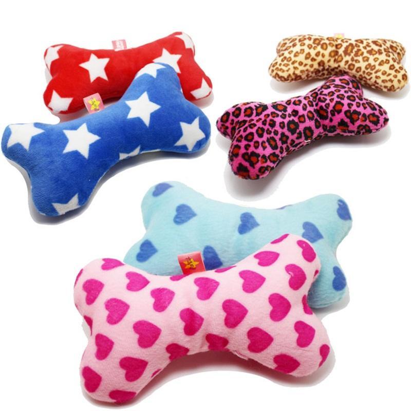 Dog Vocalization Toys Plush Pet Supplies Colorful Little Bone Plaything Fidget Toy Heart Leopard Print Star 1 8dl Q2