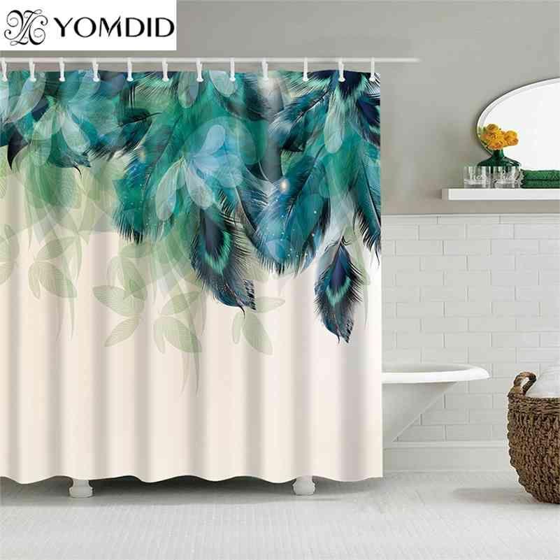 Yomdid полиэстер волокна ванны занавес 3d печатанный душ занавес с 12 крючками для домашнего декора ванной комнаты ванна Cortina de ducha 210402