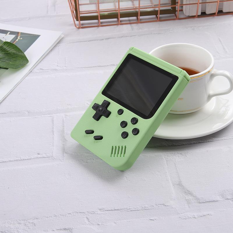 2021 Portable Macaron Handheld Game Console Retro Video Game player Can Store 500/400 in1 Games 8 Bit 3.0 Inch Colorful LCD Cradle