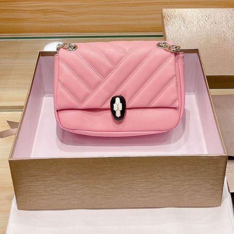 2021 Ünlü Designesr Lady Moda Çanta Cüzdan Serpenti Cabochon Çanta Klasik Timsah Desen Kadın Çanta Omuz Çantası Çanta Bayanlar Çapraz vücut çanta Çanta