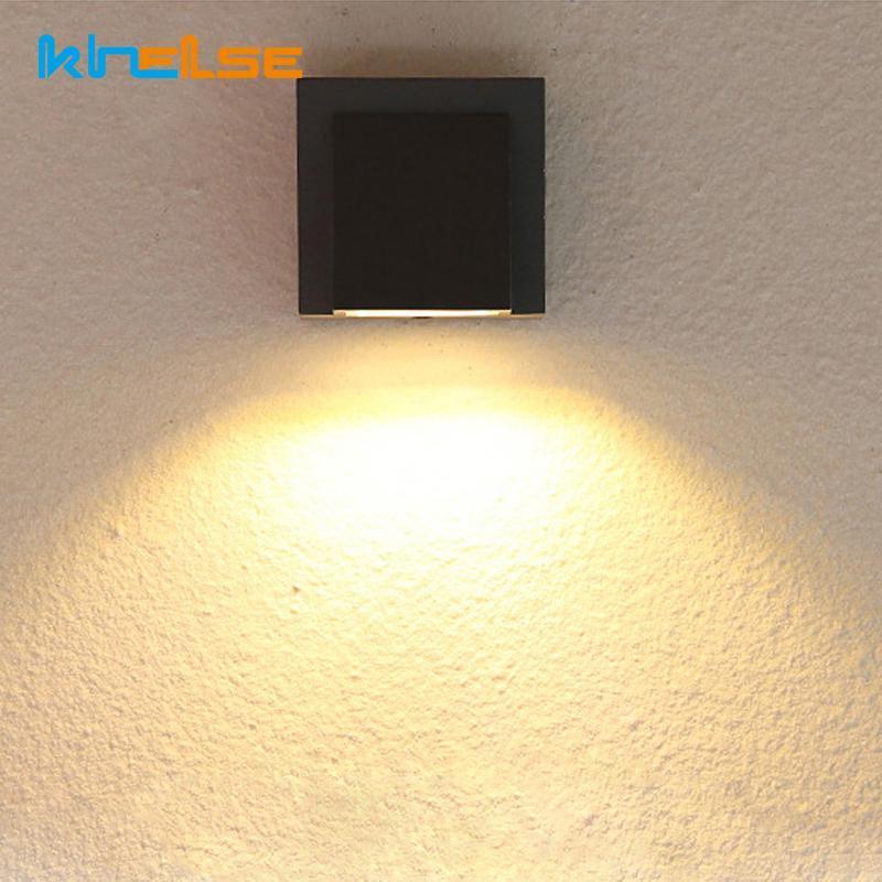 야외 LED 베란다 벽 sconce 빛 방수 IP65 램프 알루미늄 실내 현대 빛 AC90-260V 정원 마운트 램프