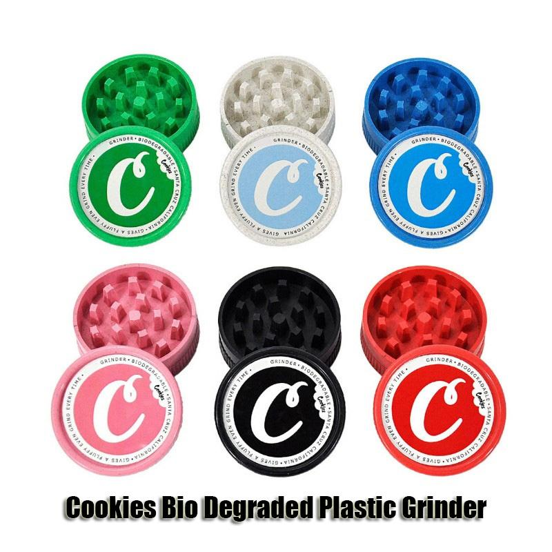 Ciasteczka Szlifierka Bio Degraded Plastic Tobacco Kruszarka Sucha Ziele Smasher 40mm 56mm 63mm Rozmiar 2 Warstwy Solidna ręka Muler Zioła Szlifierki