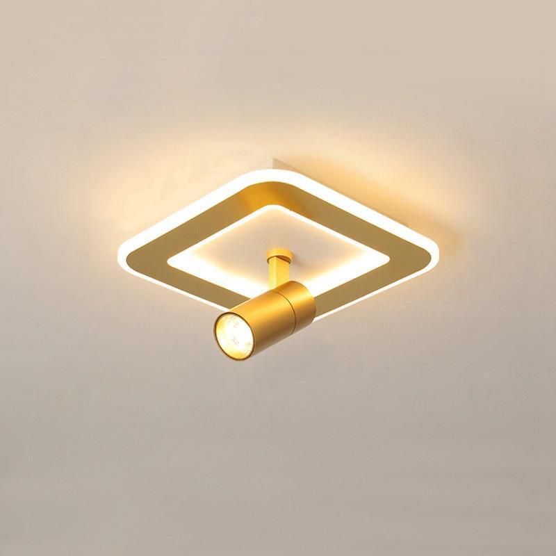 LED 현관 천장 조명 주요 통로가없는 주택 거실 창조적 인 Cloakroom 표면 장착 스포트 라이트 벽 램프