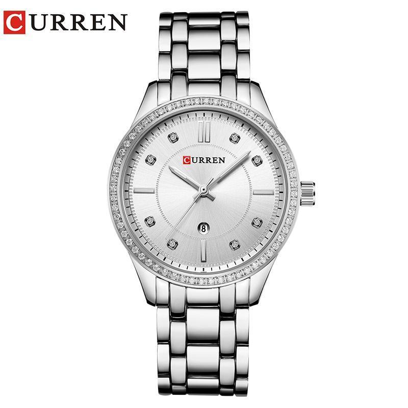 Armbanduhren Relojes Para Mujer Curren Frauen Uhren Marke Quarz Damenuhr Luxus Armbanduhr Edelstahl Weibliche Uhr Mode Kleid