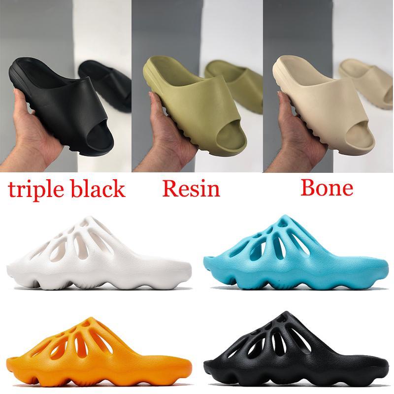 أزياء الرجال الصنادل النساء النعال أحذية الراتنج الثلاثي أسود أبيض أحمر العظام الأرض البني الصحراء الرمال عدم الانزلاق النعال حجم 36-45