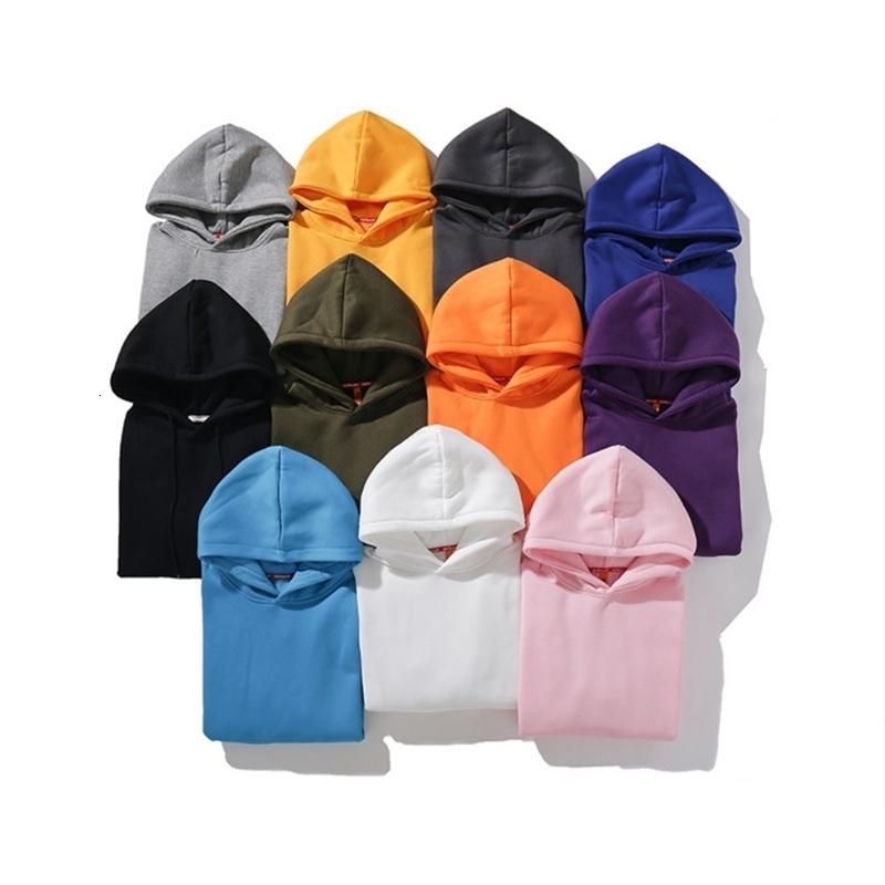 Calidad Moda Hombres Hoodie Otoño Hip Hop Hop O-Cuello Pullaje Sudaderas Mendientes Moda Moda Sólido Outwear Outwear