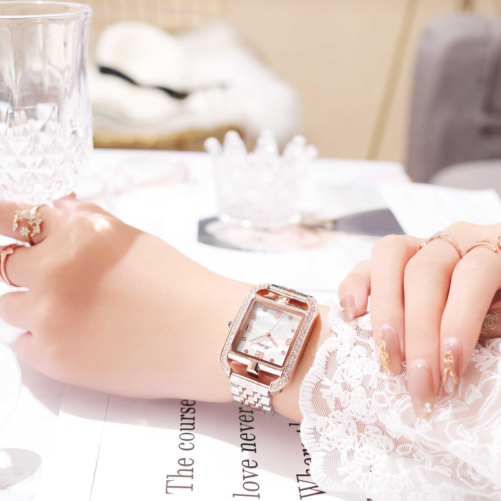 Watch Damen Mode Square Meibin Digital Face Quarzuhr