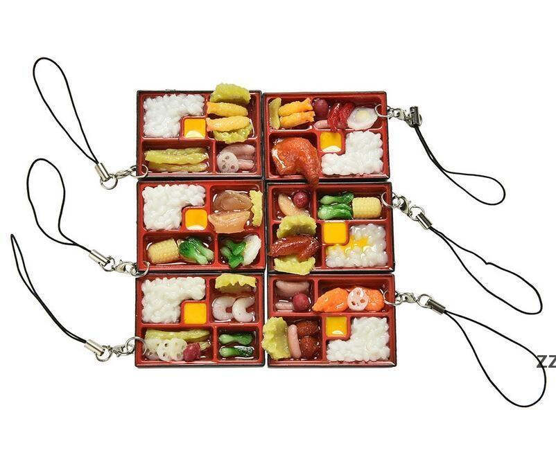 Симпатичные симуляторы суши ключевая цепочка брелок поддельных японских пищевых блюд ремешок брелок сумка подвесной ремешок брелок кольцо смешные игрушки HWD10484