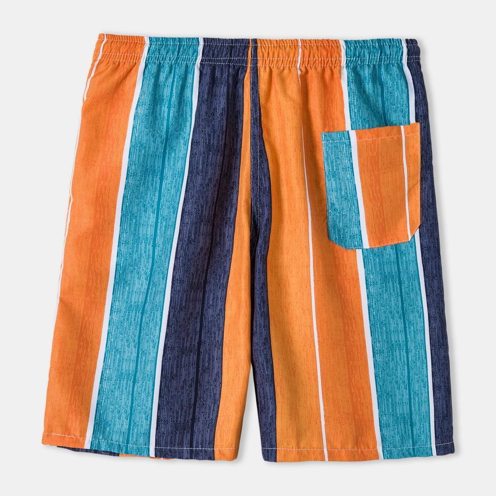 Erkek Şort Yaz Rahat Düz Çizgili Beş Noktası Pantolon Gençlik Yüksek Kalite Trend Gevşek Plaj Pantolon