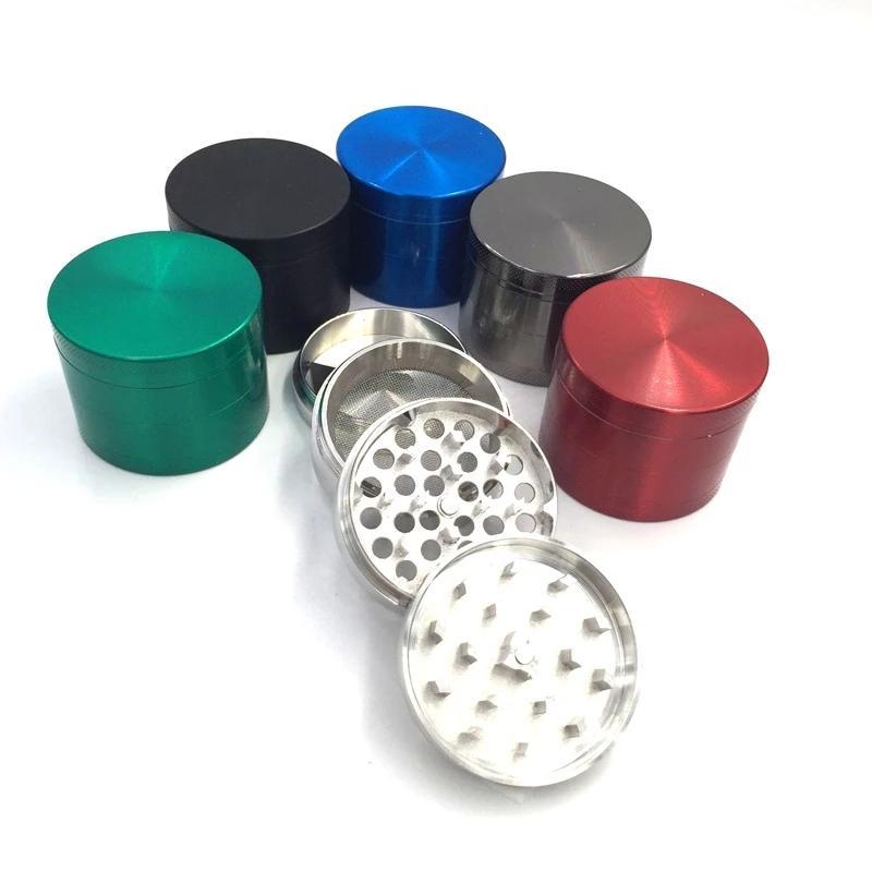 Molinillos de pimiento Hierbla Metal Ginder 40 mm 4 capas Tabaco Tabaco Amoladora para humo 6 colores Zicn Alloy Dientes Colorfulgrinders Fit Dryherb WLL438