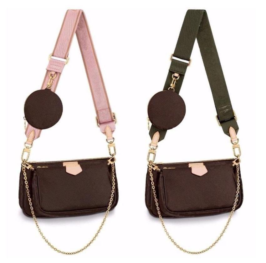 3-teilig Set Frauen Handtasche Luxurys Designer Umhängetaschen Crossbody Mode Multi Pochette Echtes Leder Größe: 25 * 5 * 14 01