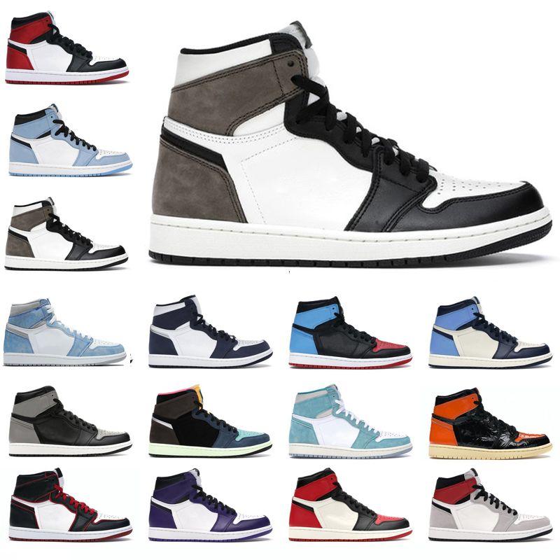 2021 Erkek Kadın Açık Ayakkabı 1s Yüksek OG 1 Hyper Kraliyet Chicago Obsidiyen Üniversitesi Mavi Karanlık Mocha Dijital Pembe Erkek Eğitmenler Sneakers