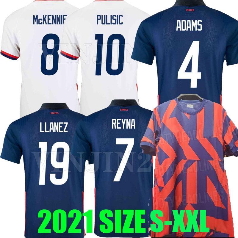2021 الولايات المتحدة الأمريكية لكرة القدم الفانيلة بعيدا 2022 pulisic dest mckennie reyna adams weah musah cloodget 21 22 usa الرجال الاطفال عدة قمصان كرة القدم تايلاند مايلوتس دي القدم