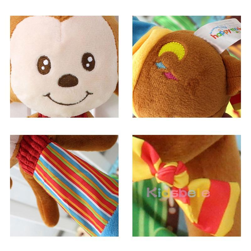 Baby Musical Rasselspielzeug Krippe Hängende Beißringspielzeug für geborene Kleinkind Spielzeug Schöne Affe Bebe 0-12 Monate