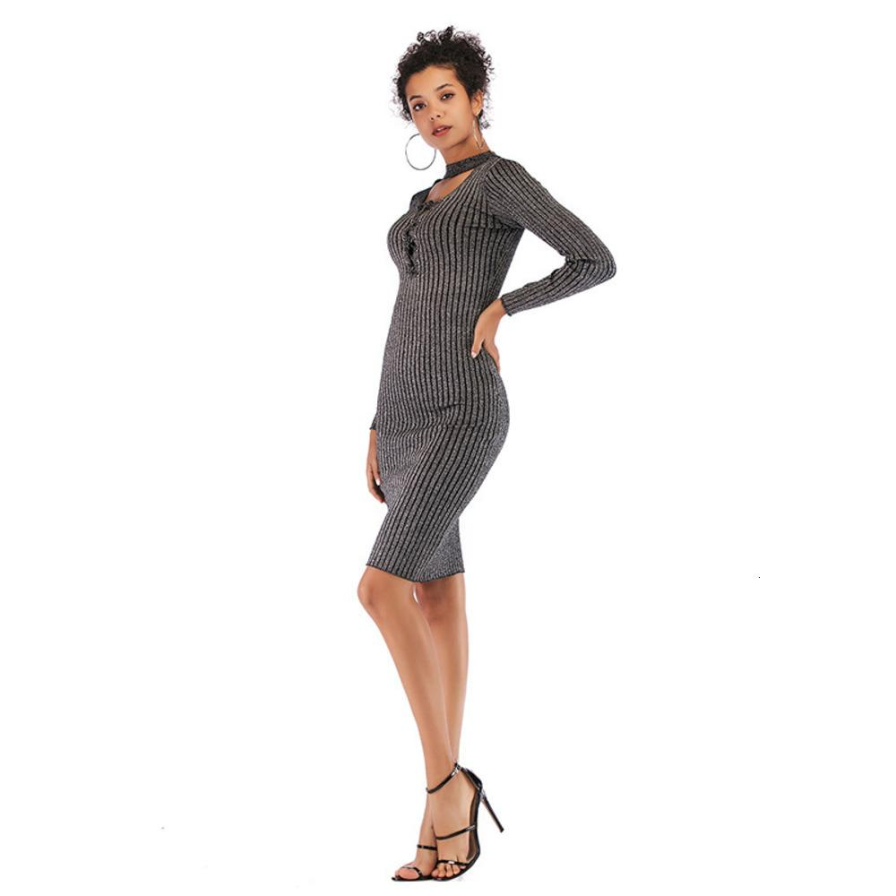2021 Designer Mode Frühling Tight Bottom Strick Rock Mittlere Länge Frauen Slim über Kniewolle Kleid Für Frauen