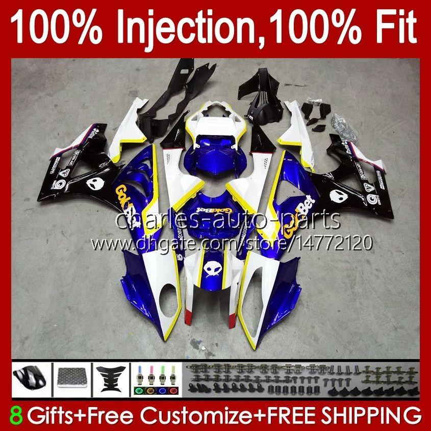Injection Mold Bodys For BMW S-1000RR S 1000RR 1000 RR S1000-RR 09-14 19No.14 S1000RR 09 10 11 12 13 14 S1000 RR 2009 2010 2011 2012 2013 2014 OEM Fairings Kit blue black