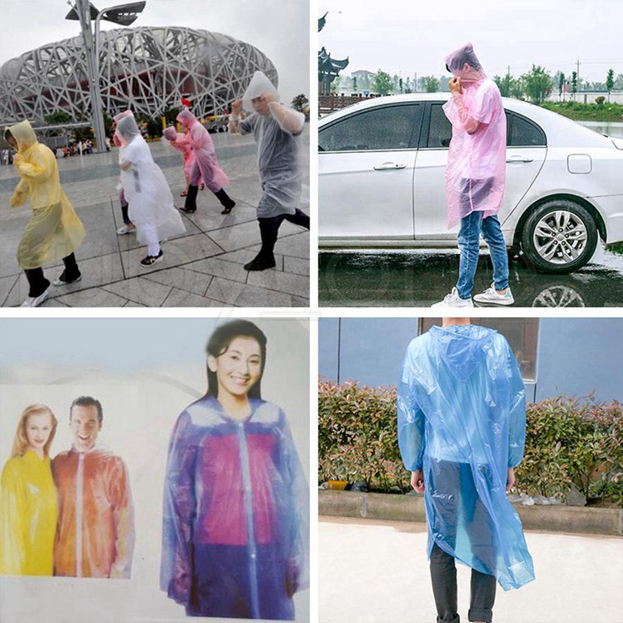 3000 قطعة / الوحدة المتاح pe المعطف الكبار لمرة واحدة الطوارئ ماء هود المعطف السفر التخييم يجب أن المطر معطف المطر في الهواء الطلق RRA4289