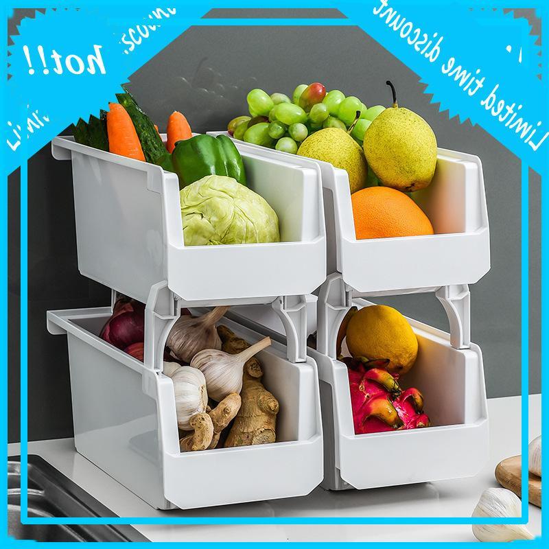 주방 선반은 과일과 야채 바구니 서랍 스토리지 플라스틱 일광욕 바구니,