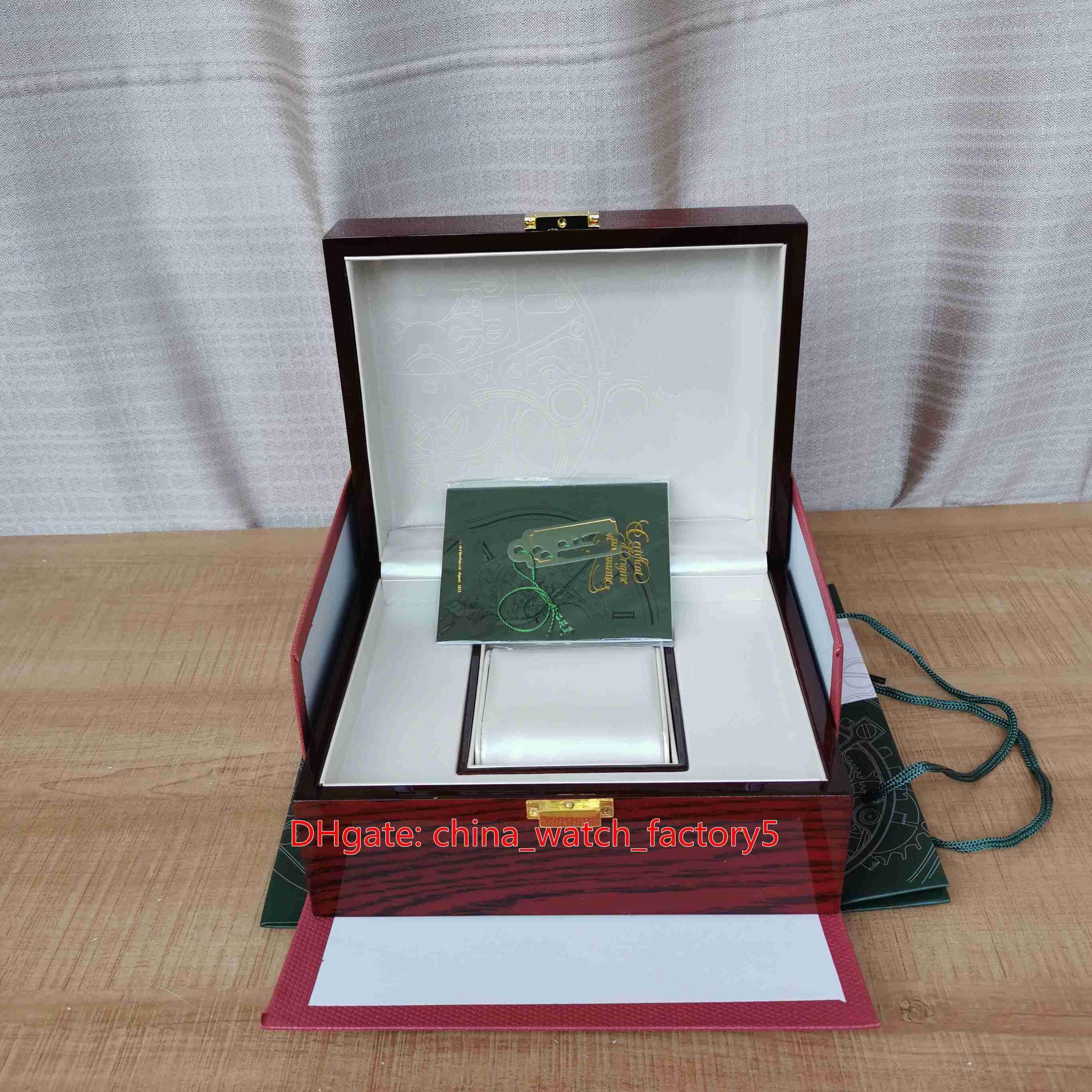 Отличное Высокое Качество AP Часы Коробки Оригинальные Документы Красная Деревянная Кожаная Кожаная Коробка Блокировка Сумка 20 мм х 16 мм 1 кг для 15400 15703 15500 15202 26320 Часы Наручные часы