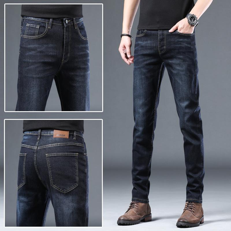 Primavera New Jeans Slim Piedi Piedi Casual Casual Moda Coreana Pantaloni lunghi uomini sciolti uomini sciolti