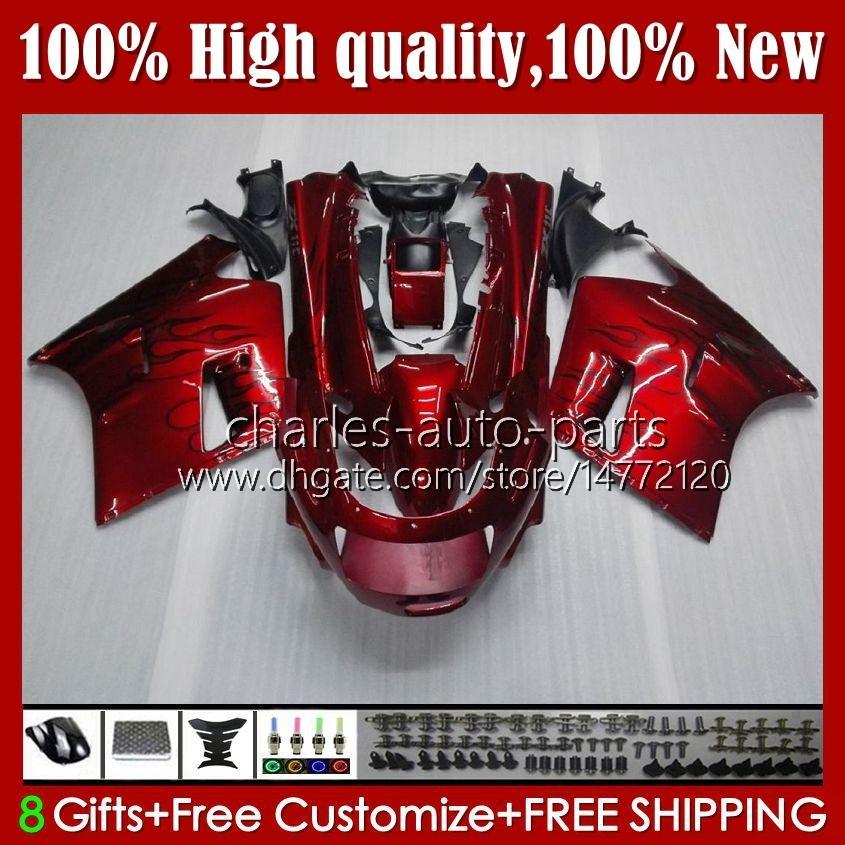 Corpo OEM per Kawasaki Ninja ZZR 1100 cc ZX11 R ZZR-1100 ZX-11 R ZZR1100 ZX-11R 31HC.0 ZX11R 96 97 98 99 00 01 ZX 11 R 11 ° 1990 1991 1992 1993 1994 1994 Kit carenatura 1995 Black Black