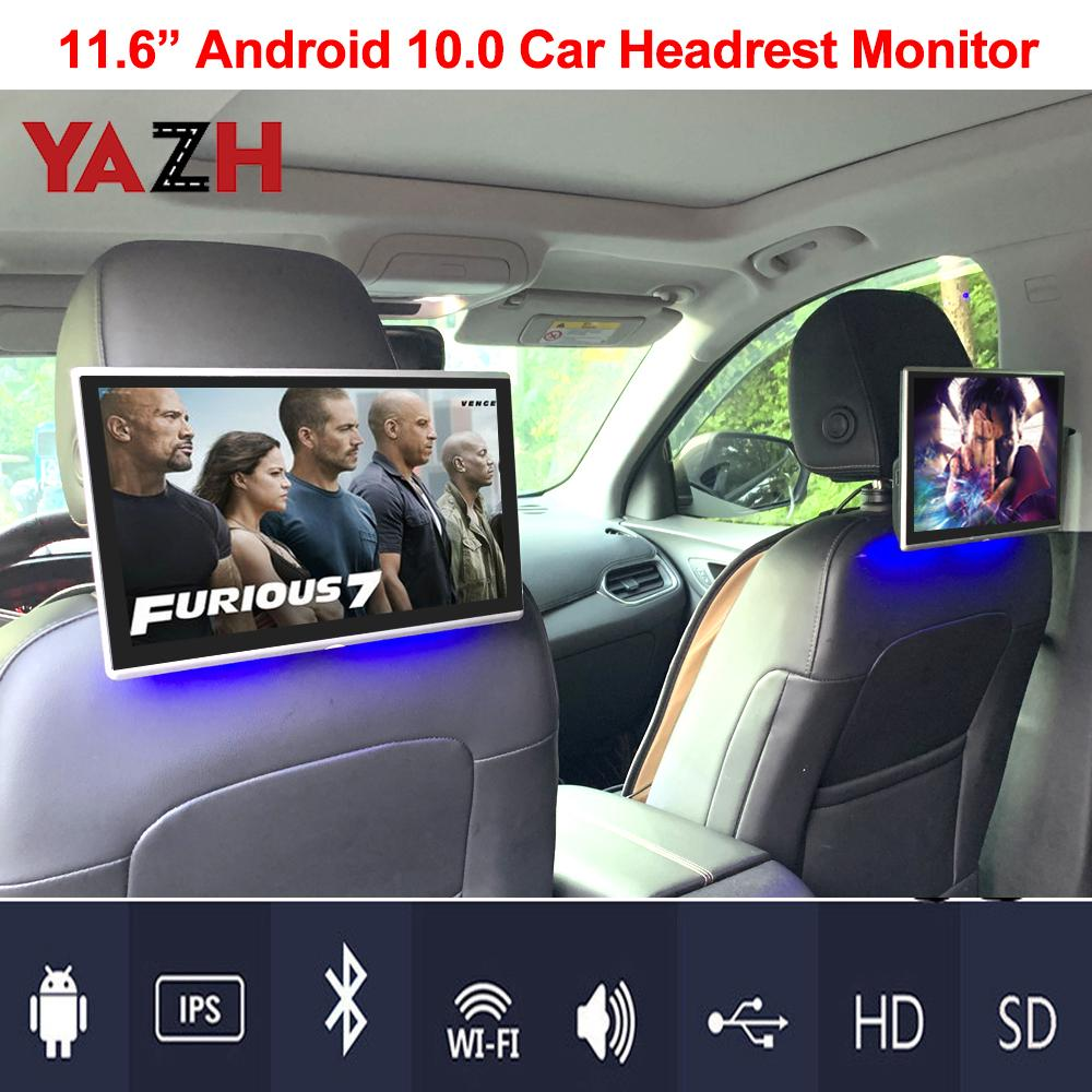 4K Android Monitor 11.6 inch Headrest 1080P Car video DVD player Rear Seat Entertainment for benz bmw lexus Toyota