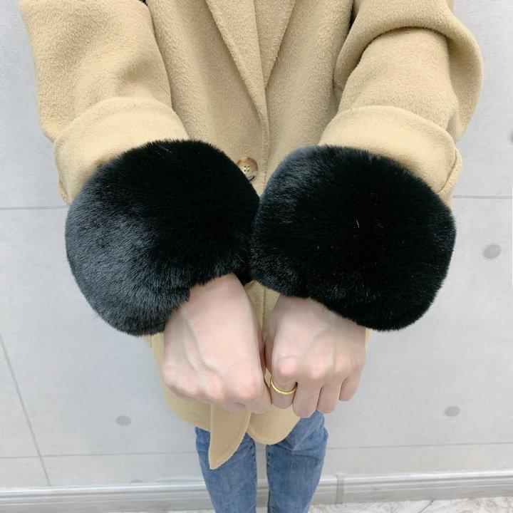 Fünf Finger Handschuhe 1 Paar Große Manschette Pelz Handgelenk Große Hülse Dekor Wintermantel Hand Ring Faux Warme Beyleeves Armmanschetten