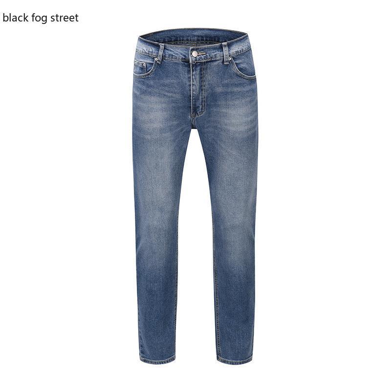 Black Fog Street K80 # Pantaloni in jeans in jeans in jeans in cotone elasticizzato da uomo Pantaloni pieghettati per motocicli