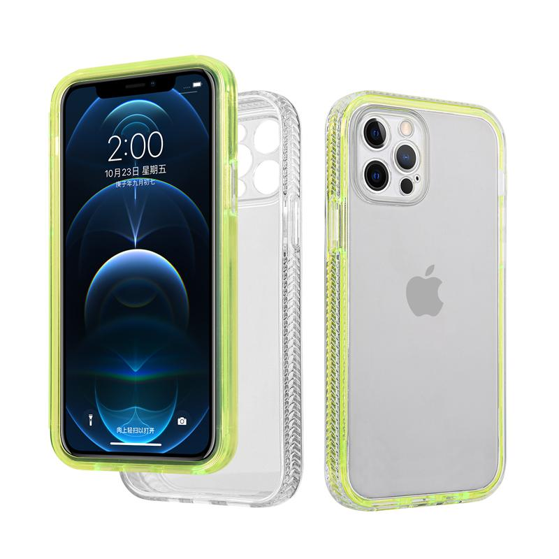 Future Hybrid Armor Cases Candy Color 2 in 1 Clear Dual Frame Shockproof TPU PC Case For iPhone 12 Mini 11 Pro MAX XR X XS 8 7 6 6S SE2