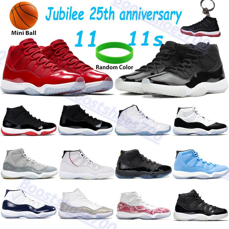 أحذية رجالية عالية 11 ثانية أحذية كرة السلة اليوبيل 25th الذكرى السنوية وين الفوز مثل الفضاء مربى الأسطورة الأزرق كونكورد بارد رمادي بانتون بلاتين تينت الرجال النساء الرياضة أحذية رياضية